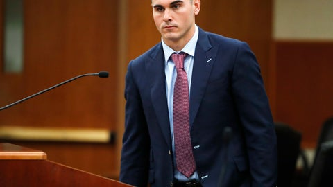 <p>               File - In this Oct. 24, 2018 file photo, Denver Broncos backup quarterback Chad Kelly appears for a hearing in the Arapahoe County Courthouse in Centennial, Colo. Kelly has pleaded not guilty to first-degree criminal trespassing after being accused of entering a couple's suburban Denver home uninvited. KDVR-TV reports that Kelly entered the plea on Monday, March 4, 2019, in Arapahoe County District Court. (AP Photo/David Zalubowski, Pool, File)             </p>