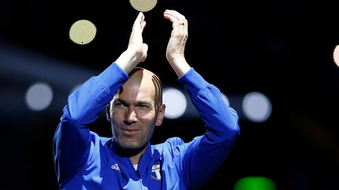 <p>               FILE - In this Tuesday, June 12, 2018 file photo, Former Real Madrid head coach Zinedine Zidane acknowledges applause as he arrives for a charity soccer match at the U Arena in Nanterre, north of Paris, France. Zinedine Zidane is reportedly returning to coach Real Madrid less than a year after leading the team to three straight Champions League titles. The Spanish television channel La Sexta says on Monday, March 11, 2019 the former France great will replace Santiago Solari, who couldn't keep Madrid from enduring one of its worst collapses in recent history.(AP Photo/Thibault Camus, file)             </p>