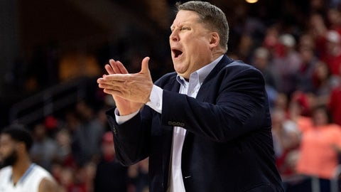 <p>               FILE - In this Saturday, March 16, 2019, file photo, Old Dominion coach Jeff Jones yells to his players during the second half of an NCAA college basketball game against Western Kentucky in the championship of the Conference USA tournament in Frisco, Texas. Old Dominion's battle to reach the NCAA Tournament came as its coach, Jeff Jones, was fighting cancer. (AP Photo/Jeffrey McWhorter, File)             </p>
