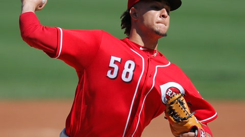 <p>               FILE - In this Sept. 16, 2018, file photo, Cincinnati Reds' Luis Castillo pitches against the Chicago Cubs during the first inning of a baseball game in Chicago. Castillo has been picked to start on opening day for the Cincinnati Reds. Rookie manager David Bell made the announcement Tuesday, March 19, 2019, saying Castillo will get the ball March 28 at home against the Pittsburgh Pirates. (AP Photo/Jim Young, File)             </p>
