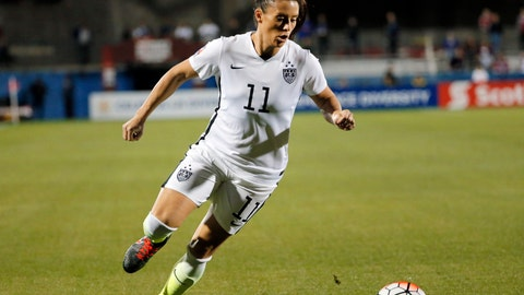 <p>               FILE - In this Feb. 10, 2016, file photo, United States defender Ali Krieger (11) controls the ball during a CONCACAF Olympic qualifying tournament soccer match against Costa Rica in Frisco, Texas. Krieger was named to the U.S. women's national team roster Thursday, March 21, 2019, for exhibition matches against Australia and Belgium as the team prepares for the World Cup in France starting in June. (AP Photo/Tony Gutierrez, File)             </p>