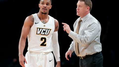 <p>               FILE - In this Monday, Nov. 19, 2018, file photo, Virginia Commonwealth head coach Mike Rhoades, right, talks to Marcus Evans (2) during the second half of an NCAA college basketball game in the Legends Classic tournament in New York. The Rams have 25 wins and are the top seed in the Atlantic 10 men's basketball tournament. (AP Photo/Frank Franklin II, File)             </p>