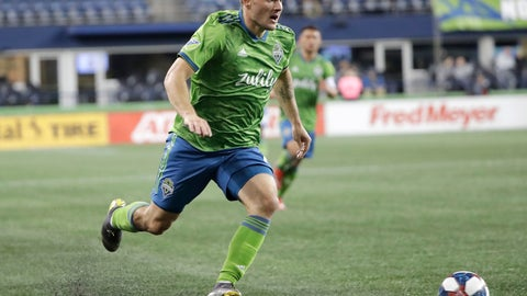 <p>               Seattle Sounders forward Jordan Morris drives against Club Nacional during the second half of an exhibition soccer match Wednesday, Feb. 20, 2019, in Seattle. Club Nacional won 2-0. (AP Photo/Ted S. Warren)             </p>