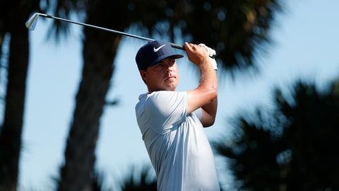 <p>               Keith Mitchell tees off on the seventh hole during the third round of the Honda Classic golf tournament, Saturday, March 2, 2019, in Palm Beach Gardens, Fla. (AP Photo/Wilfredo Lee)             </p>