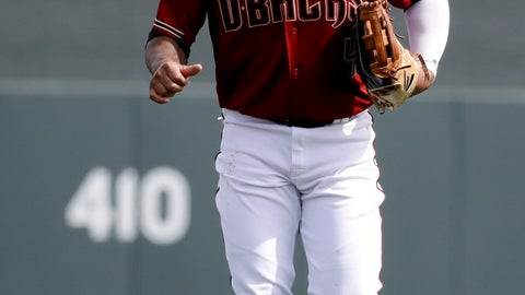 <p>               Arizona Diamondbacks center fielder Ketel Marte runs in from the outfield during the first inning of a spring baseball game against the Oakland Athletics in Scottsdale, Ariz., Monday, Feb. 25, 2019. (AP Photo/Chris Carlson)             </p>