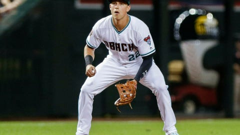 <p>               FILE - In this July 20, 2018, file photo, Arizona Diamondback' Jake Lamb plays third base against the Colorado Rockies during a baseball game in Phoenix. Lamb is taking over at first base for the Diamondbacks, replacing Paul Goldschmidt, who was traded to the St. Louis Cardinals in December.  (AP Photo/Darryl Webb, File)             </p>