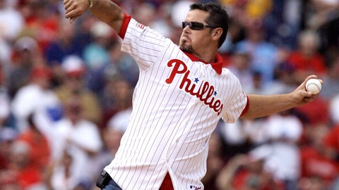 <p>               FILE - In this Oct. 1, 2008, file photo, former Philadelphia Phillies pitcher Mitch Williams throws out the ceremonial first pitch before the start of Game 1 of the National League division baseball series between the Phillies and the Milwaukee Brewers in Philadelphia. A New Jersey appeals court has upheld a $1.5 million jury award to Williams over his firing by the MLB Network. An MLB Network spokesman says the network is reviewing the ruling and assessing its option.  (AP Photo/Julie Jacobson, File)             </p>