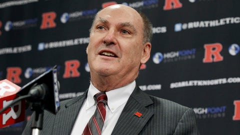 <p>               FILE - In this Nov. 20, 2012, file photo, Big Ten Conference Commissioner Jim Delany answers a question during a news conference, at Rutgers University in Piscataway, N.J. Delany, one of the most influential figures in college athletics for three decades, will step down as Big Ten commissioner when his contract expires June 30, 2020. The Big Ten announced Delany's plans on Monday, March 4, 2019. The 71-year-old has been commissioner since 1989. (AP Photo/Mel Evans, File)             </p>