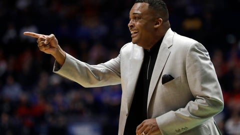 <p>               FILE- In this March 16, 2018, file photo Georgia State head coach Ron Hunter calls out form the bench during their first-round game against Cincinnati in the NCAA college basketball tournament in Nashville, Tenn. Hunter's eager for more NCAA Tournament glory. He has built a once-dismal Georgia State program into a mid-major with a knack for bracket-busting. Before the memorable upset of Baylor, Hunter's 2001 team was a No. 11 seed which upset No. 6 Wisconsin in the first round. (AP Photo/Mark Humphrey, File)             </p>