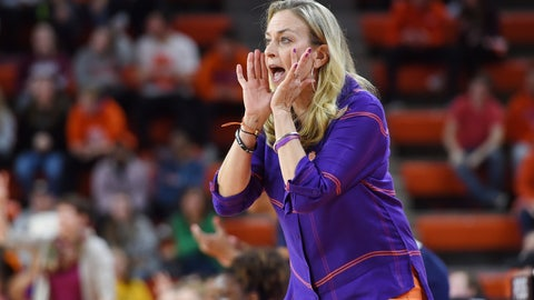 <p>               FILE - In this Jan. 31, 2019, file photo, Clemson head coach Amanda Butler reacts during the first half of an NCAA college basketball game against Notre Dame, in Clemson, S.C. Clemson is 18-11 after 13 straight losing seasons. The Tigers have gone 9-7 in ACC games after winning a total of nine ACC games the previous five years. It's happened with first-year coach Amanda Butler, who took a season off after spending 10 years at Florida as head coach. Clemson is projected to make the NCAA Tournament for the first time since 2002. (AP Photo/Richard Shiro, File)             </p>