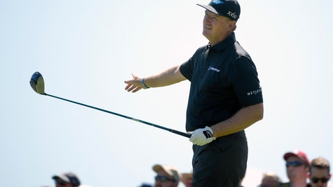 <p>               Ernie Els, of South Africa, reacts to his tee shot on the third hole during the first round of the Arnold Palmer Invitational golf tournament Thursday, March 7, 2019, in Orlando, Fla. (AP Photo/Phelan M. Ebenhack)             </p>