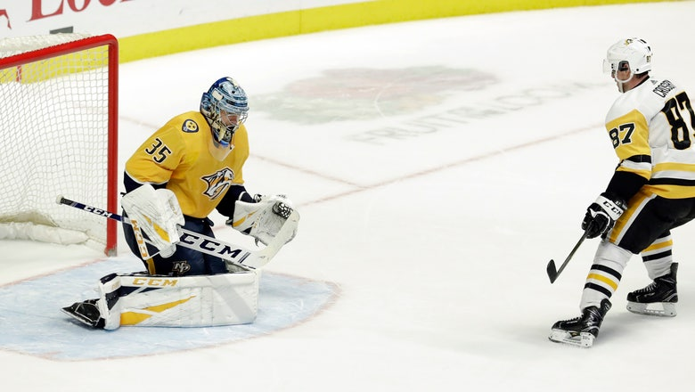 Crosby, Penguins beat Predators 2-1 in shootout
