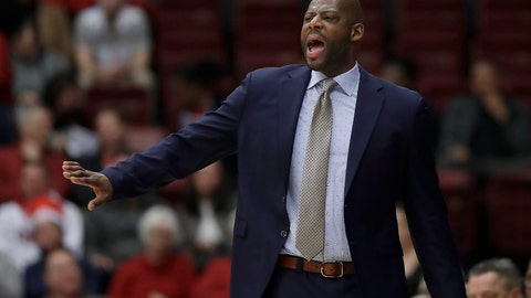 <p>               FILE - In this March 7, 2019, file photo, California coach Wyking Jones gestures during the first half of his team's NCAA college basketball game against Stanford in Stanford, Calif. California fired Jones after winning just eight games in each of his first two seasons. (AP Photo/Jeff Chiu, File)             </p>