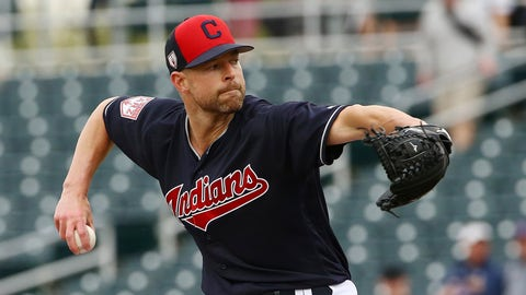 <p>               Cleveland Indians starting pitcher Corey Kluber throws a pitch against the Cincinnati Reds during the first inning of a spring training baseball game Monday, March 11, 2019, in Goodyear, Ariz. (AP Photo/Ross D. Franklin)             </p>