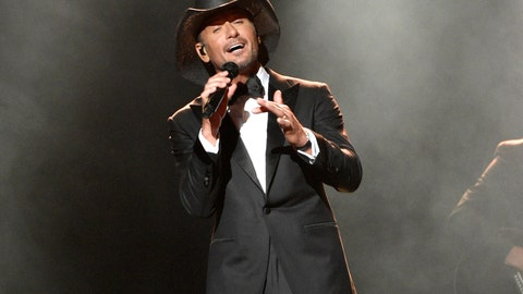 <p>               FILE - This April 2, 2017 file photo shows Tim McGraw performing at the 52nd annual Academy of Country Music Awards in Las Vegas. The NFL announced Monday that Grammy-winning country star Tim McGraw will perform a free outdoor concert on April 26, 2019, and Grammy-winning gospel singer CeCe Winans will sing the National Anthem on April 25 to open the three days of draft events. (Photo by Chris Pizzello/Invision/AP, File)             </p>