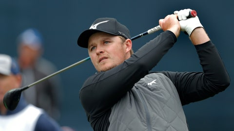 <p>               Eddie Pepperell, of England, hits his tee shot on the 18th hole during the final round of The Players Championship golf tournament Sunday, March 17, 2019, in Ponte Vedra Beach, Fla. (AP Photo/Gerald Herbert)             </p>