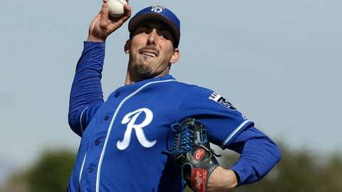 <p>               FILE - In this Wednesday, Feb. 20, 2019 file photo, Kansas City Royals pitcher Kyle Zimmer throws during spring training baseball practice in Surprise, Ariz. Kansas City right-hander Kyle Zimmer finally made it to the major leagues after a prank by Royals manager Ned Yost, who told the pitcher he was going to Triple-A Omaha. What Yost didn't say at first was that Zimmer was headed there for the Royals' exhibition game and then would leave with the big league team for Kansas City and the opener against the Chicago White Sox.(AP Photo/Charlie Riedel, File)             </p>