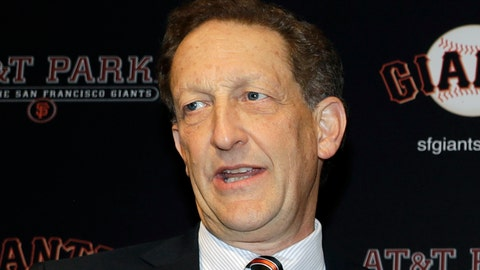 "<p>               FILE - In this Jan. 19, 2018, file photo, San Francisco Giants President and CEO Larry Baer is shown during a press conference in San Francisco. Major League Baseball has suspended San Francisco Giants President and CEO Larry Baer without pay until July 1 in response to a video released earlier this month showing him in a physical altercation with his wife. Commissioner Rob Manfred said Tuesday, March 26, 2019, that Baer's conduct on the video was ""unacceptable"" and warranted discipline. (AP Photo/Marcio Jose Sanchez, File)             </p>"
