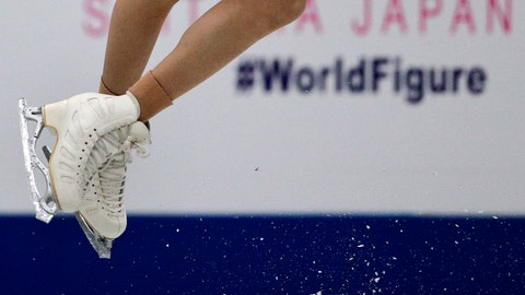 <p>               Mariah Bell, of the United States, jumps as she performs her ladies short program in the ISU World Figure Skating Championships at Saitama Super Arena in Saitama, north of Tokyo, Wednesday, March 20, 2019. (AP Photo/Andy Wong)             </p>