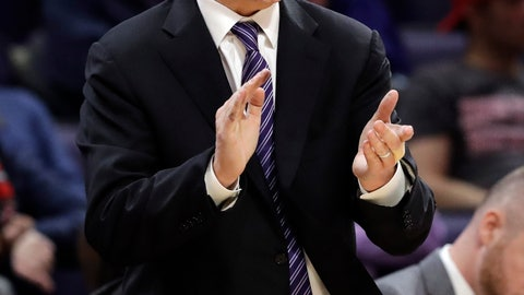 <p>               Northwestern coach Chris Collins cheers on the team during the second half of an NCAA college basketball game against Ohio State, Wednesday, March 6, 2019, in Evanston, Ill. (AP Photo/Nam Y. Huh)             </p>