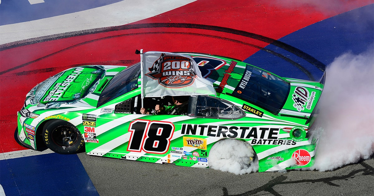 Kyle Busch claims 200th career NASCAR victory after an impressive Fontana run