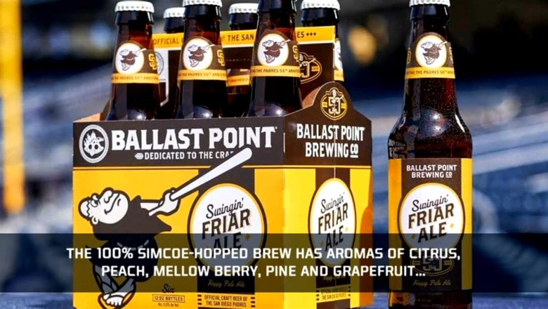 Padres and Ballast Point release Swingin' Friar Ale to celebrate Padres 50th Anniversary