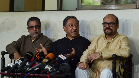 "<p>               President of Bangladesh Cricket Board Nazmul Hassan Papon, center, speaks during a press conference on the status of the country's cricket team after Friday's mass shootings in New Zealand, in Dhaka, Bangladesh, Friday, March 15, 2019. Dozens of people were killed in mass shootings at two mosques full of worshippers attending Friday prayers on what the prime minister called ""one of New Zealand's darkest days."" A cricket match between New Zealand and Bangladesh scheduled to start Saturday was canceled after the Bangladesh cricket team had a narrow escape. (AP Photo/Al-Emrun Garjon)             </p>"