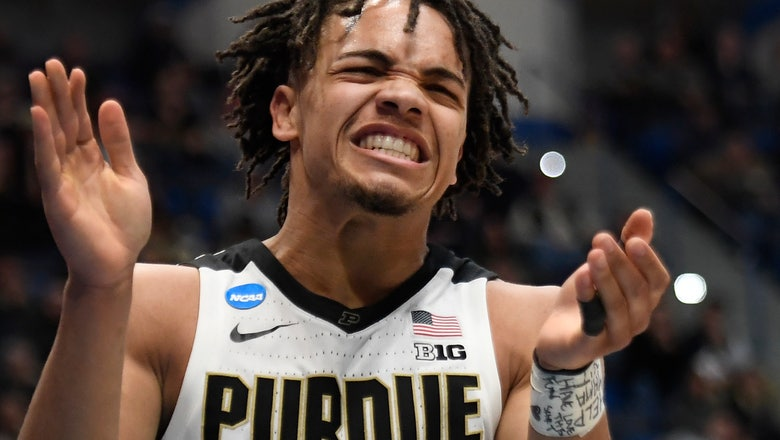 Edwards leads Purdue past ODU 61-48 in 1st round of NCAA