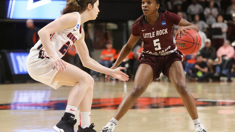 Gonzaga downs Little Rock 68-51 in opening round game