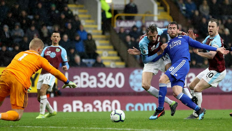 Morgan gives 10-man Leicester 2-1 win at Burnley in EPL