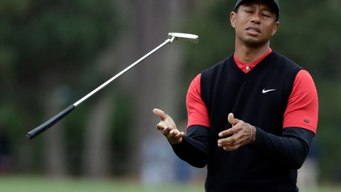 <p>               Tiger Woods flips his club after his shot to the 10th green during the final round of The Players Championship golf tournament Sunday, March 17, 2019, in Ponte Vedra Beach, Fla. (AP Photo/Lynne Sladky)             </p>
