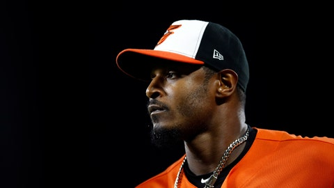 <p>               File-This Sept. 29, 2018, shows Baltimore Orioles right fielder Adam Jones running off the field between innings of the second baseball game of a doubleheader against the Houston Astros, in Baltimore. A person familiar with the negotiations tells The Associated Press that outfielder Adam Jones and the Arizona Diamondbacks have agreed to a one-year contract. The person spoke on condition of anonymity Sunday, March 10, 2019, because the agreement was subject to a successful physical. (AP Photo/Patrick Semansky, File)             </p>