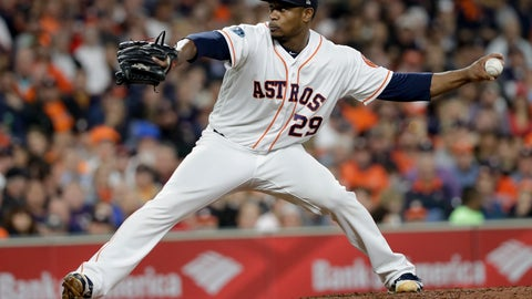 <p>               FILE - In this Oct. 16, 2018, file photo, Houston Astros relief pitcher Tony Sipp throws against the Boston Red Sox during the sixth inning in Game 3 of a baseball American League Championship Series, in Houston. A person familiar with the deal tells The Associated Press that left-handed reliever Tony Sipp and the Washington Nationals have agreed in principle on a one-year contract that guarantees $1.25 million and includes a mutual option for 2020. The person spoke on condition of anonymity Wednesday, March 13, 2019, because the deal was pending the successful completion of a physical exam. (AP Photo/David J. Phillip, File)             </p>