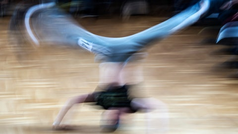 <p>               FILE - In this file picture taken with a long time exposure on March 12, 2017, Jannis Bednarzik performs during the German Breakdance Championships in Magdeburg, Germany. Getting hip to breakdancing's appeal with young audiences, organizers of the 2024 Paris Olympics want the dance sport that spread from New York in the 1970s to become a medal event at the games. (AP Photo/Jens Meyer, File)             </p>
