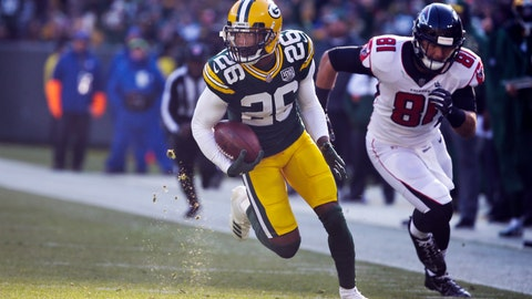 <p>               FILE - In this Dec. 9, 2018, file photo, Green Bay Packers' Bashaud Breeland returns an interception for a touchdown during the first half of an NFL football game against the Atlanta Falcons in Green Bay, Wis. The Kansas City Chiefs have signed Breeland to a $2 million contract on Tuesday, March 19, 2019, for the upcoming season that could be worth an additional $3 million if incentives are met. (AP Photo/Mike Roemer, File)             </p>
