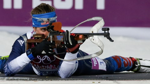 <p>               FILE - In this Feb. 9, 2014, file photo, United States' Susan Dunklee shoots during the women's biathlon 7.5k sprint at the Winter Olympics in Krasnaya Polyana, Russia. The Americans have never won an Olympic medal in biathlon. The organization for the sport that combines cross-country skiing and rifle shooting is trying to change that with a revamped blueprint. (AP Photo/Gero Breloer, File)             </p>