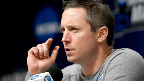 <p>               Florida coach Mike White speaks during a news conference the NCAA men's college basketball tournament in Des Moines, Iowa, Friday, March 22, 2019. Florida faces Michigan in the second round on Saturday. (AP Photo/Nati Harnik)             </p>