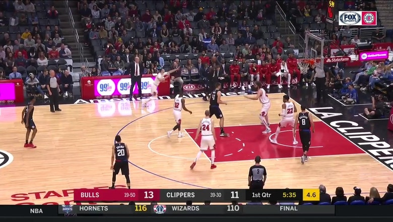 HIGHLIGHTS: Clippers top Bulls 128-121 despite Rivers ejection