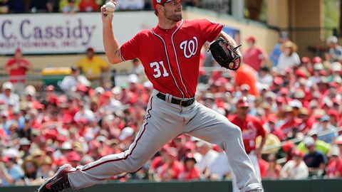 <p>               Washington Nationals starting pitcher Max Scherzer (31) delivers in the first inning during an exhibition spring training baseball game agains the St. Louis Cardinals on Monday, March 11, 2019, in Jupiter, Fla. (AP Photo/Brynn Anderson)             </p>
