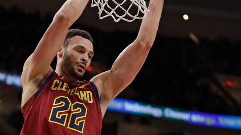 <p>               Cleveland Cavaliers' Larry Nance Jr. dunks against the Orlando Magic in the first half of an NBA basketball game, Sunday, March 3, 2019, in Cleveland. (AP Photo/Tony Dejak)             </p>