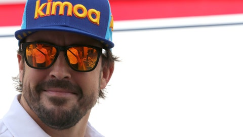 <p>               FILE - In this file photo dated Sunday, Nov. 25, 2018, Mclaren driver Fernando Alonso of Spain ahead of the Emirates Formula One Grand Prix at the Yas Marina racetrack in Abu Dhabi, United Arab Emirates.  The two-time Formula One champion Fernando Alonso has been in South Africa for the test with Toyota Hilux that won the Dakar Rally this year, it is revealed Wednesday March 27, 2019. (AP Photo/Kamran Jebreili, FILE)             </p>