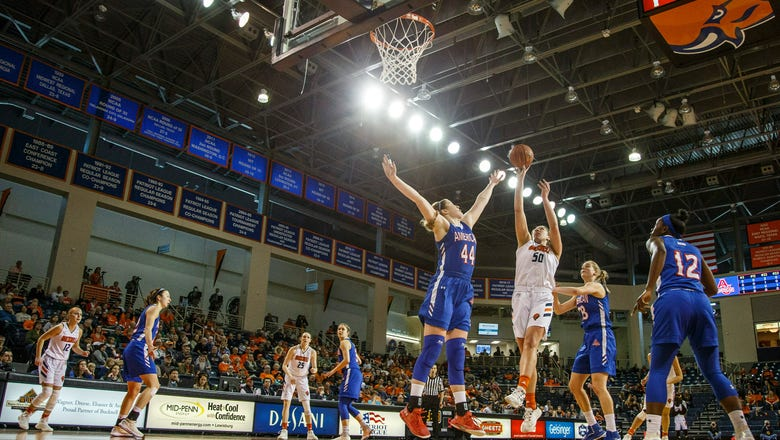 Slagus leads Bucknell women by American 66-54 for NCAA berth