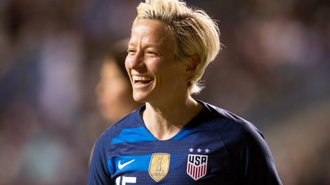 "<p>               FILE - In this Feb. 27, 2019, file photo, United States' Megan Rapinoe reacts after scoring goal during the first half of SheBelieves Cup soccer match against the Japan in Chester, Pa. Just a bit of fine tuning and Rapinoe will be ready for the World Cup. While she's physically fine at this point, Rapinoe said she isn't as ""sharp"" as she'd like to be. (AP Photo/Chris Szagola, File)             </p>"