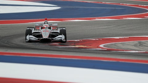 <p>               Will Power (12), of Australia, steers through a turn during an open practice session for the IndyCar Classic auto race, Saturday, March 23, 2019, in Austin, Texas. Power finished first in qualifying. (AP Photo/Eric Gay)             </p>