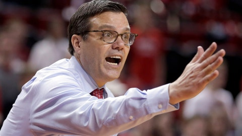 <p>               FILE- In this March 10, 2019, file photo, Nebraska coach Tim Miles yells instructions during an NCAA college basketball game against Iowa, in Lincoln, Neb. Nebraska has fired seventh-year coach Tim Miles after the Cornhuskers finished 13th in the Big Ten and failed to make the NCAA Tournament for a fifth straight year. Athletic director Bill Moos announced the firing Tuesday, March 26, 2019, two days after the Huskers finished a 19-17 season with an 88-72 loss to TCU in the second round of the NIT. (AP Photo/Nati Harnik, file)             </p>