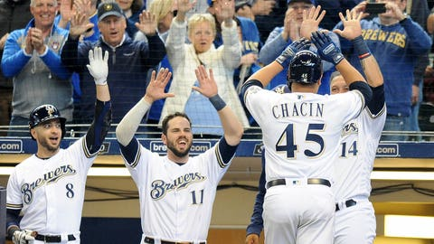 Jhoulys Chacin, Brewers starting pitcher (↑ UP)