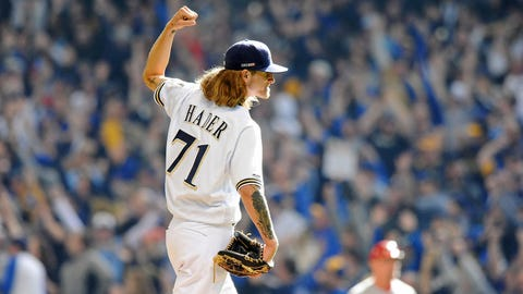 Josh Hader, Brewers reliever (↑ UP)