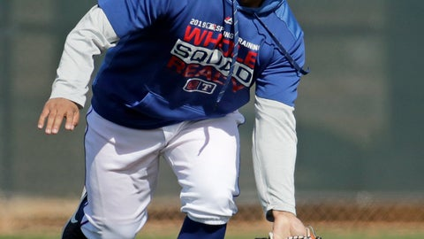 <p>               FILE - In this Monday, Feb. 18, 2019, file photo, Texas Rangers left fielder Willie Calhoun fields a ball during spring training baseball practice in Surprise, Ariz. Calhoun slimmed down quite a bit during the offseason. The 5-foot-8 player lost 24 pounds after changing his eating habits and committing to a fitness routine. (AP Photo/Charlie Riedel, File)             </p>