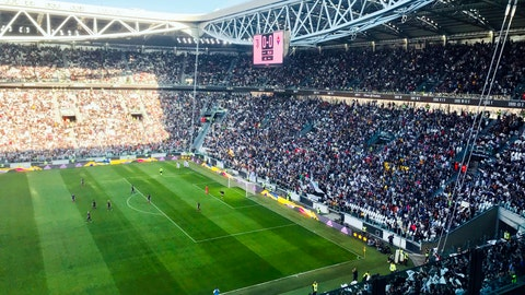 <p>               In this Sunday, March 24 2019 photo, spectators watch the Italian league women's match between Juventus Women and Fiorentina Women in the Allianz Arena in Turin, Italy. The exceptional growth of women's soccer took another leap forward when 39,000 people packed into the Allianz Stadium to watch Juventus Women beat Fiorentina Women 1-0 on a sunny Sunday afternoon. That was a record attendance in Italy that far eclipsed the old mark of 14,000. (AP Photo/Daniella Matar)             </p>
