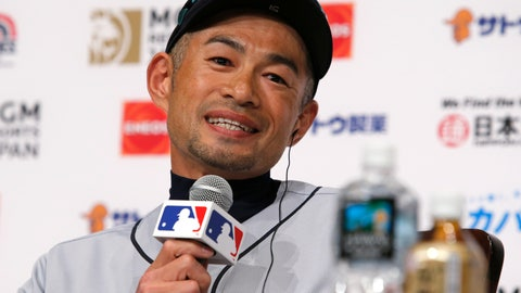 <p>               Seattle Mariners' Ichiro Suzuki speaks during a press conference in Tokyo Saturday, March 16, 2019. Ichiro is back in his native Japan and enjoying it while he can. He will play for the Mariners against the Oakland Athletics in the first two games of the Major League Baseball season at Tokyo Dome (AP Photo/Toru Takahashi)             </p>